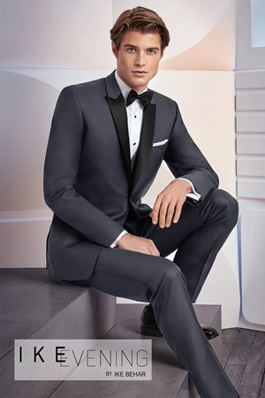 Picture of Charcoal Grey Xavier by Ike Behar for Black Tie